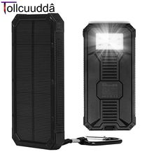 Tollcuudda Portable Charger Battery Solar Battery Power Bank For IPhone Samsung Xiaomi Huawei External bank Mobile Poverbank