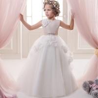 Zarte Partei Prinzessin Prom Kleid Reißverschluss Vintage Hellblau Tutu Tüll Little Girl Pageant Kleider Mit Schmetterling Appliques 2015