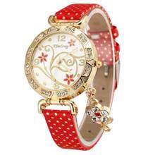 df884bf4b144d Fuseau horaire #301 mode femmes montre orchidée modèle Bracelet en cuir  diamant Quartz montre-