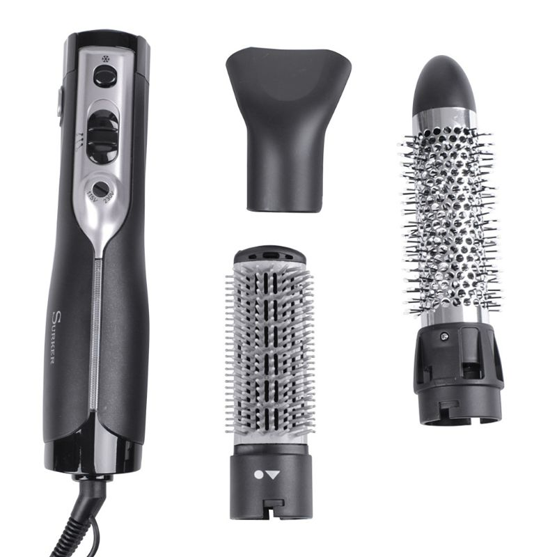 3 in1 Hair Dryer Rotating Brush Roller Electric Curler Styling Straightening Comb 1000W 115-230V 50Hz Hair Curler3 in1 Hair Dryer Rotating Brush Roller Electric Curler Styling Straightening Comb 1000W 115-230V 50Hz Hair Curler