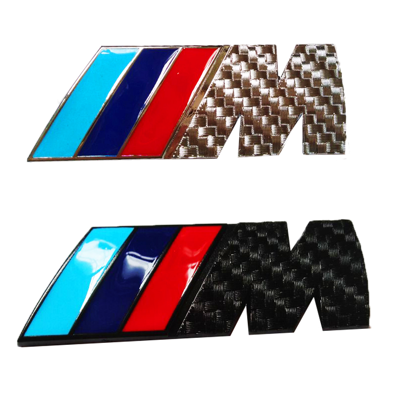 3D M Metal Car Stickers Emblem Badge Chrome Emblems Badge Fender Stickers For BMW M Power M3 M5 M6 E46 E52 E53 E87 E34 E92 auto chrome camaro letters for 1968 1969 camaro emblem badge sticker