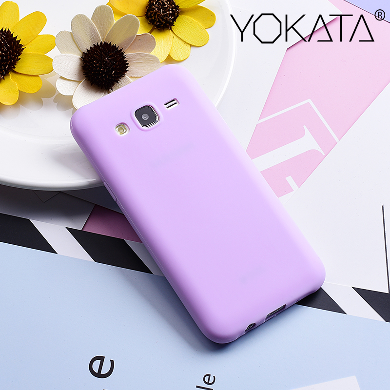 Yokata Soft Case para Samsung Galaxy J5 2015 J500F Lovely Candy Color Soft Color Silicone Soft Gel R ubber Phone Contraportada Coque