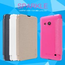 Чехол  lumia 550 4.7-дюймов чехол NILLKINSparkle серхтонкий кожаный чехол Розничный пакет