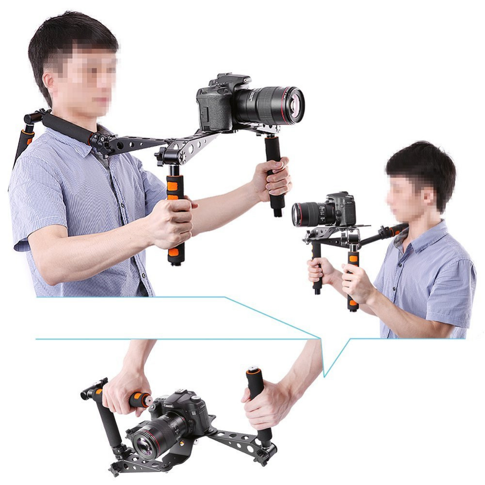 Neewer Aluminium Alloy Foldable Rig Movie Kit Film Making System Rig Stabilizer for Canon/Nikon D7100/D7200 Camera and Camcorder neewer aluminium alloy foldable rig movie kit film making system rig stabilizer for canon nikon d7100 d7200 camera and camcorder