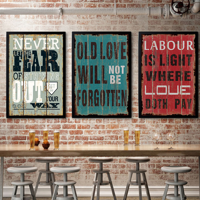 Superbe Vintage Poster Retro And Nostalgic Inspired Saying Canvas Painting Prints  Wall Decor Bar,Office,