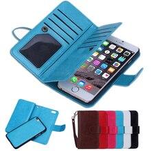 Kılıfı iPhone Xs Max X XR 7 8 artı 6 6S 5 5S SE 2020 deri çanta manyetik cüzdan telefon kılıfı için iPhone 11 Pro Max Flip kapak