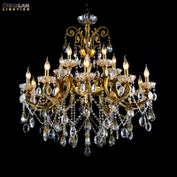 8/15/24 Arms Chandelier Lighting Massive Zinc Alloy Crystal Light Bronze Finish Antique Lustre Hanging Lamp for Hotel Project