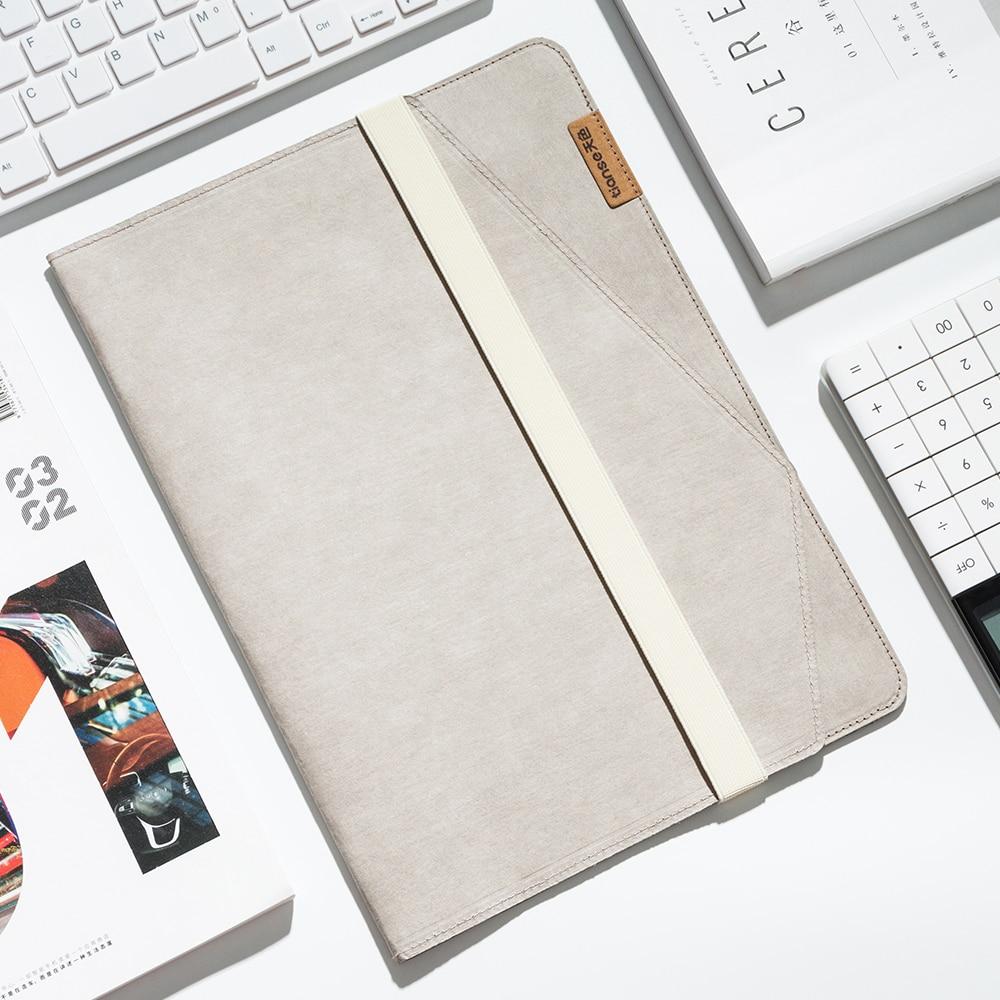 Responsable Tiasne Dossier V-kraft Papier Kraft Lavé A4 Pochette Multi-usages Documents A4 A5 Ipad-minibusiness Card (31.5*23*1.5) Ts-4504