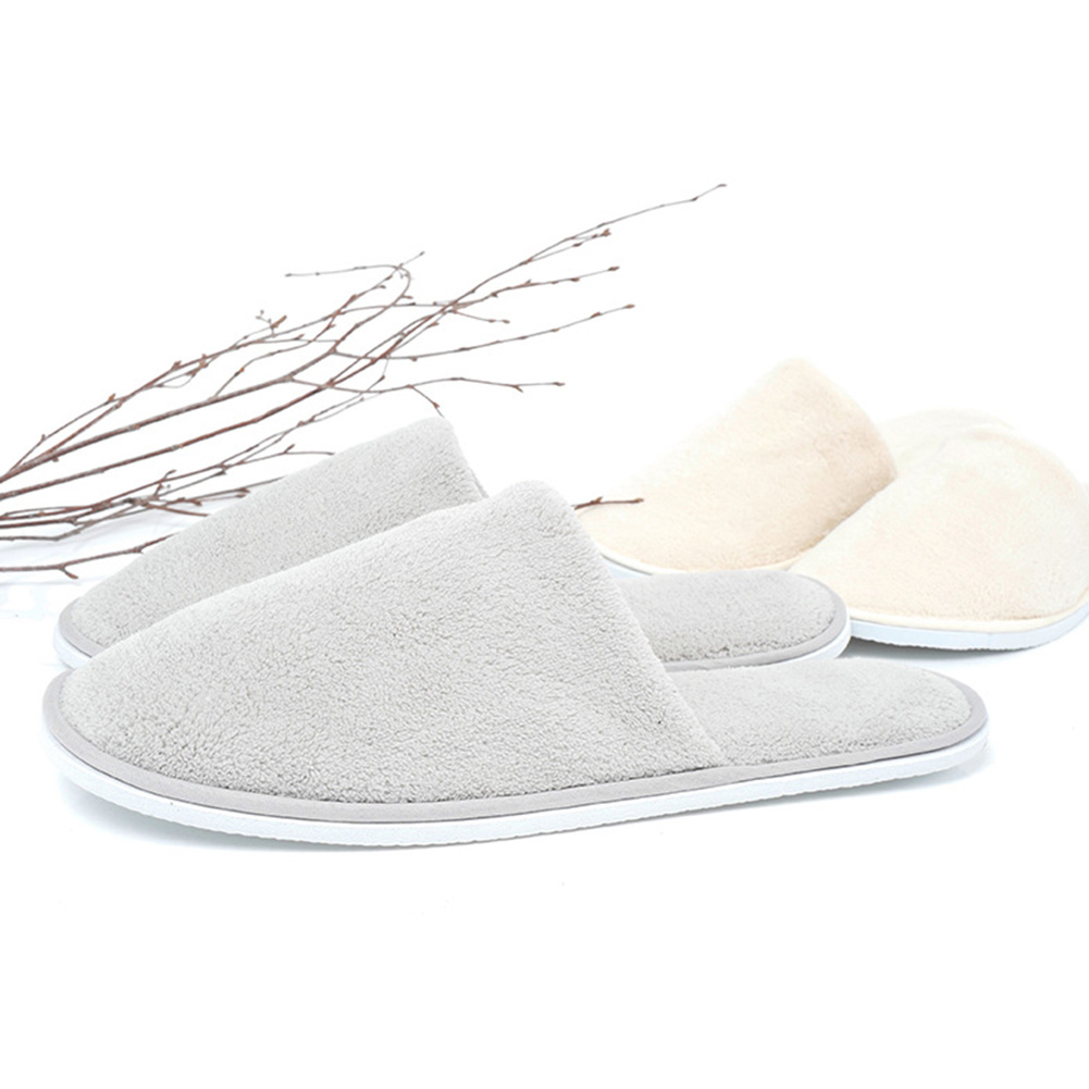 Women Men Home Hotel Indoor Slippers Non-Slip Disposable Soft Salon Club Coral Velvet Guest Wear WashableWomen Men Home Hotel Indoor Slippers Non-Slip Disposable Soft Salon Club Coral Velvet Guest Wear Washable