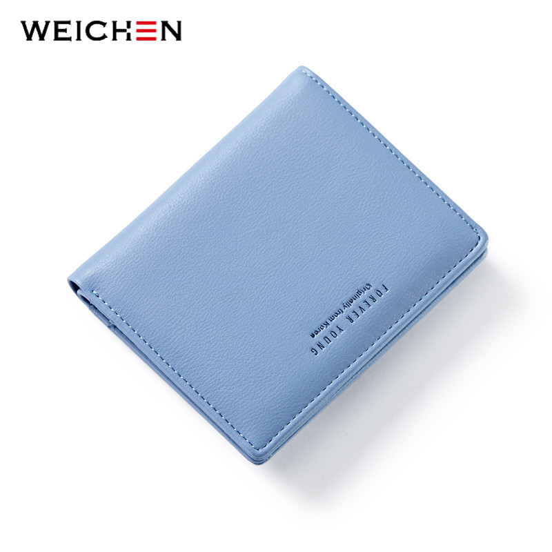 WEICHEN Women Lovely Zipper Hasp Wallet Short Fashion Lady Portable Small Solid Color PU Leather Change Purse Girl Female Clutch 5 colors women wallet clutches bags best pu leather button short purse lady bag girl faves bowknot hasp fashion brand designer