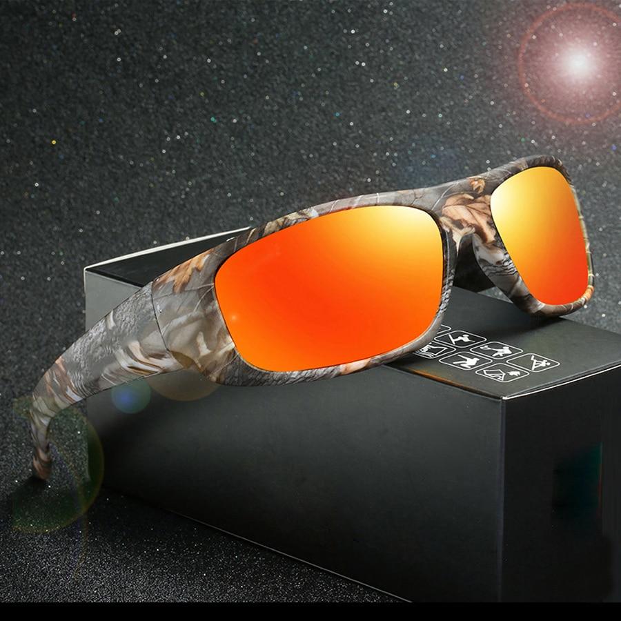 NEWBOLER Gepolariseerde Vissen Bril Camouflage Mannen Vrouwen Camo Sport Galsses Fietsen Wandelen Hardlopen Camping Fly Fishing Eyewear UV