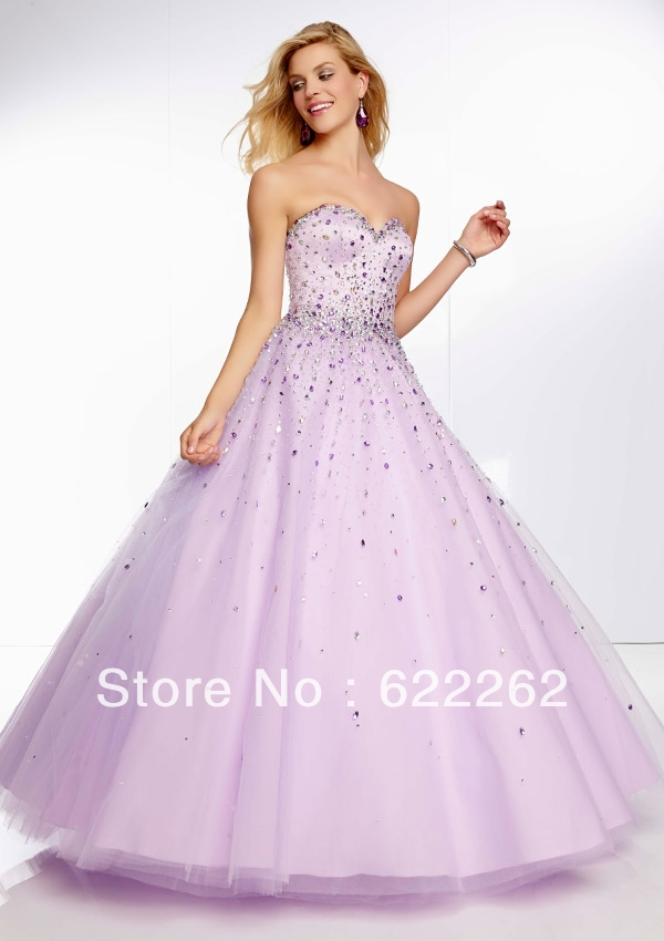 Top selling ball gown sweetheart floor length organza prom dresses ...