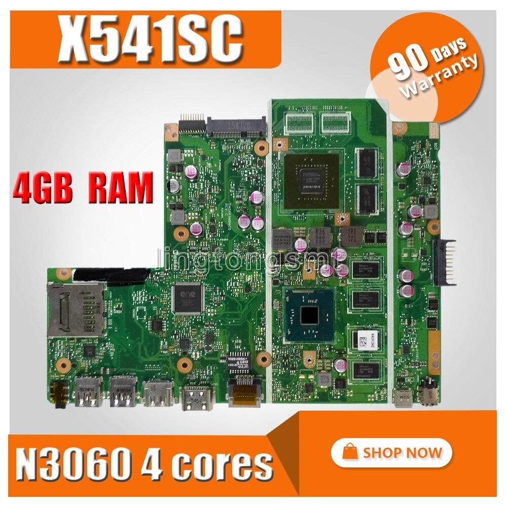 X541SC motherboard MB 4G N3060 AS V1G For Asus X541S X541SC X541SA Laptop motherboard X541SC Mainboard