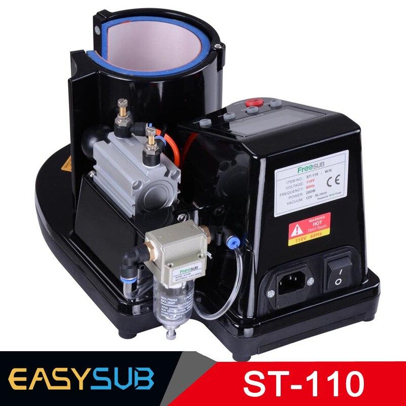 ST110 máquina de vacío de sublimación neumática máquina automática de prensa de calor 11OZ taza de transferencia térmica taza de café mágica taza de impresión - 2