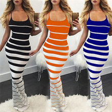 5747200c3a Women Clothing Spaghetti Strap Self Portrait Dress 2018 New Sundress Robe  Summer Striped Maxi Dress Sexy