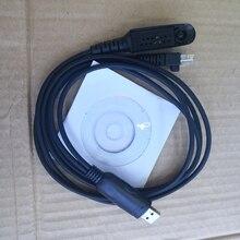 2 en 1 cable de programación USB multifunción para motorola gp328,gp338,gp340 PRO5150 walkie talkie GM338,GM3188,etc radio de coche