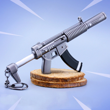 Fortress Night Keychain Toy Battle Royalen Action Figure From FORTNITE Silenced Submachine Gun Weapon Model Alloy Weapons PUBG