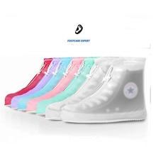 7 Colors Waterproof Overshoes Rain Anti-slip Waterproof Dustproof Shoes Cover  Shoes Cover for Woman Flat Shoes Women Reusable