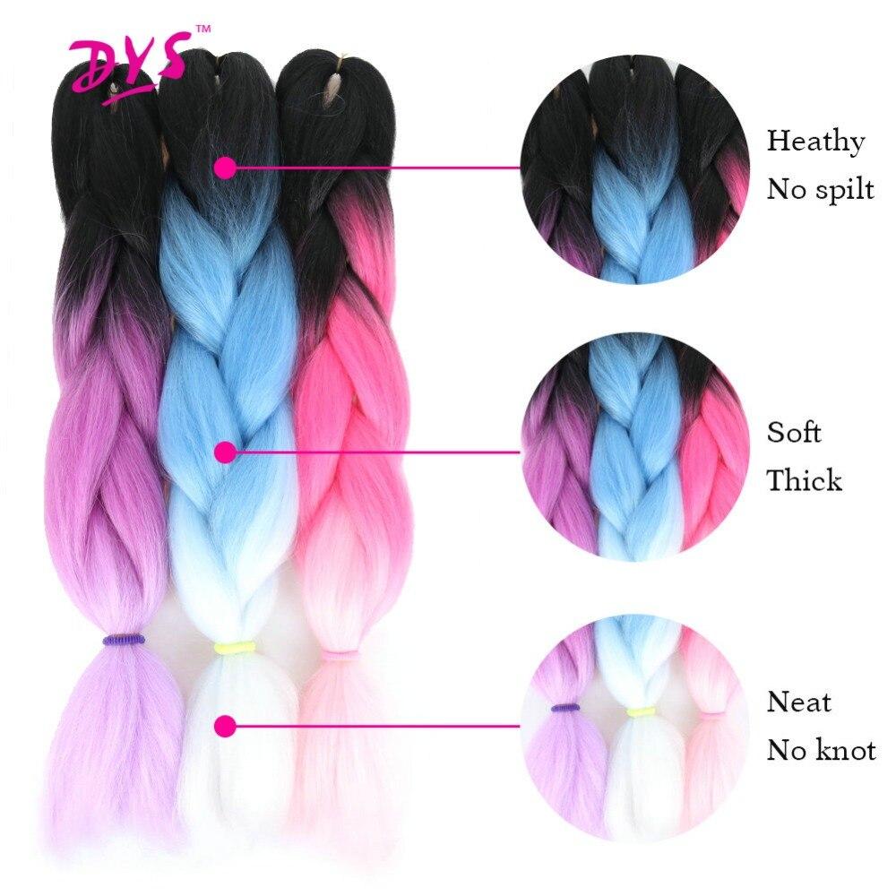 Deyngs 24 zoll Synthetische Flechten Haar Reine Farbe ...