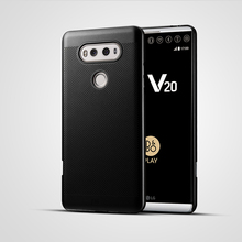 Luxury brand ultra thin New grid back cover case for LG V20 cases and covers with pc material original shell phone bag