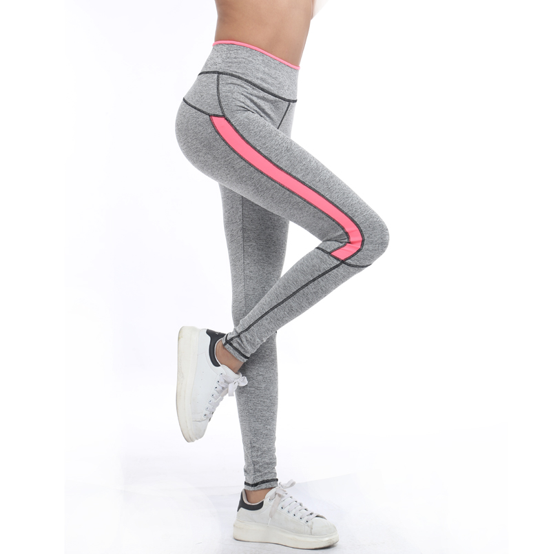 Rylanguage Women Lady Activewear Pink   Legging   Spring Summer light grey Pant Autumn High Waist Leggins American Original Order