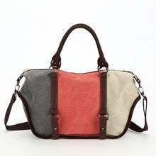 ONEFULL lady vintage cross body bag mass leisure patch hand women retro fashion canvas handbag