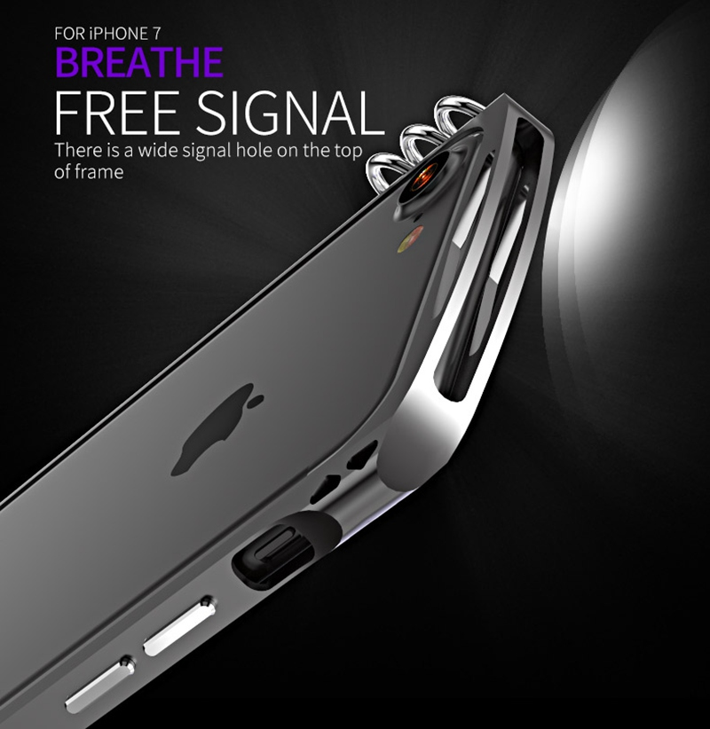 Luphie Brand New Innovative Design Luxury Metal Case For iPhone 7 Aluminium Bumper Case For iPhone 7 Plus Bumper Frame Cool