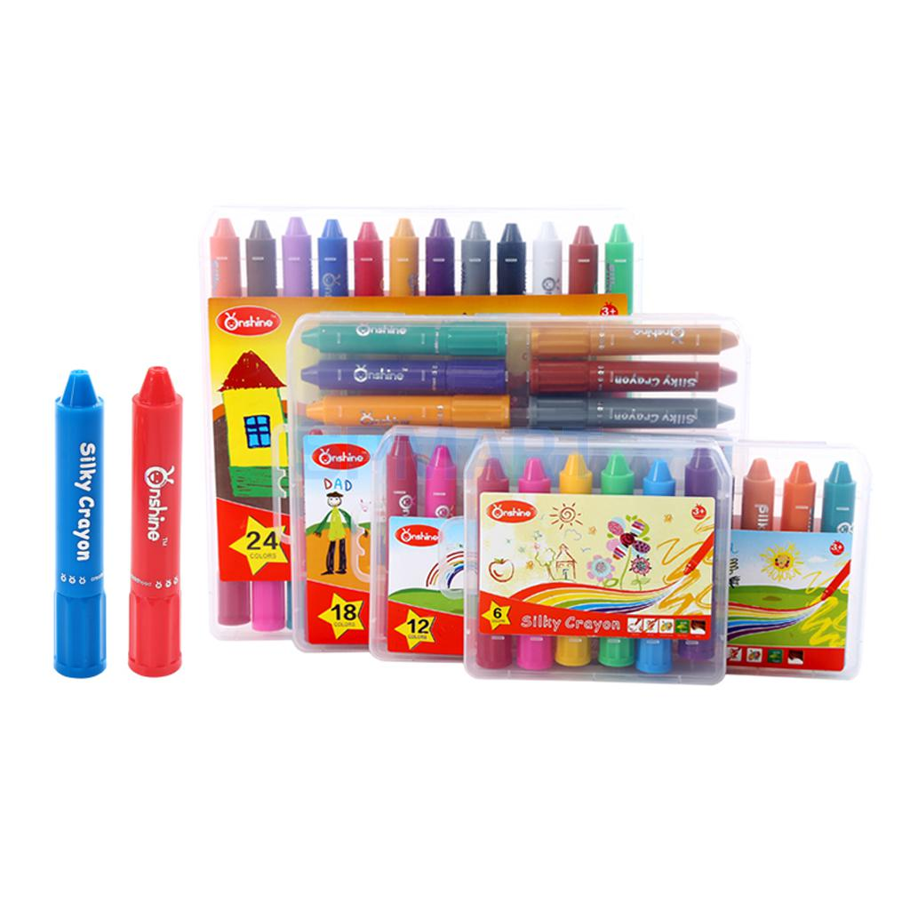 6/12/18/24 Colors Crayon Kids Chidren Painting Drawing Colorful Wax Pens Gift
