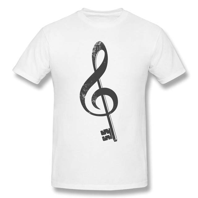 Nice New Arrival The Music Note G Men's t shirt O Neck Cheap Price ...