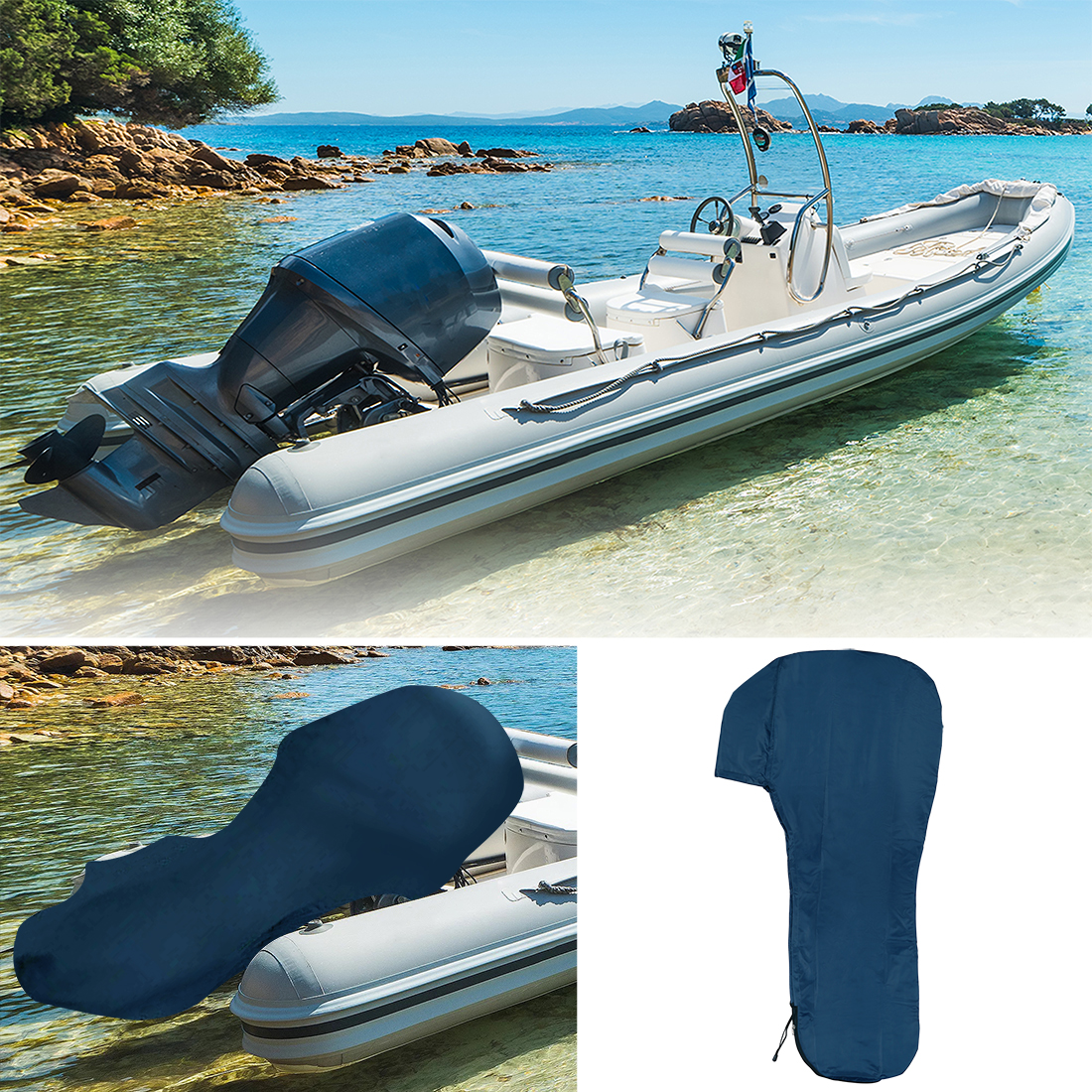 Full Outboard Boat Motor Engine Cover Waterproof Protection for 200-300 HP