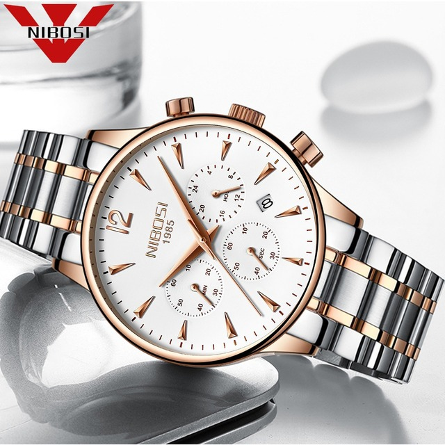 NIBOSI 2018 New Type Wristwatch Waterproof Luxury Watch Relogio Masculino Hot Selling Fashion Men Quartz Watch Stainless Steel