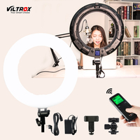 Viltrox VL 600T 45W Video LED Ring Light Photography Supplementary Lighting Annular Lamp Bi Color$Dimmable For Live Facial Phone