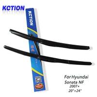 Car Windshield Wiper Blade For Hyundai Sonata NF 2007 20 24 Natural Rubber Three Segmental Type