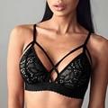 Sutiã de Renda Sexy Com Decote Em V Top Safra de Verão Tanque Das Mulheres Top Camisa Sem Mangas Blusa Camis Bustier Colete Sutiã Unpadded Bralette