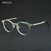 96e2630da9 2018 New Round Glasses Frame Transparent TR90 Nerd fashion Vintage  Spectacle Frames For Women Men Accessories