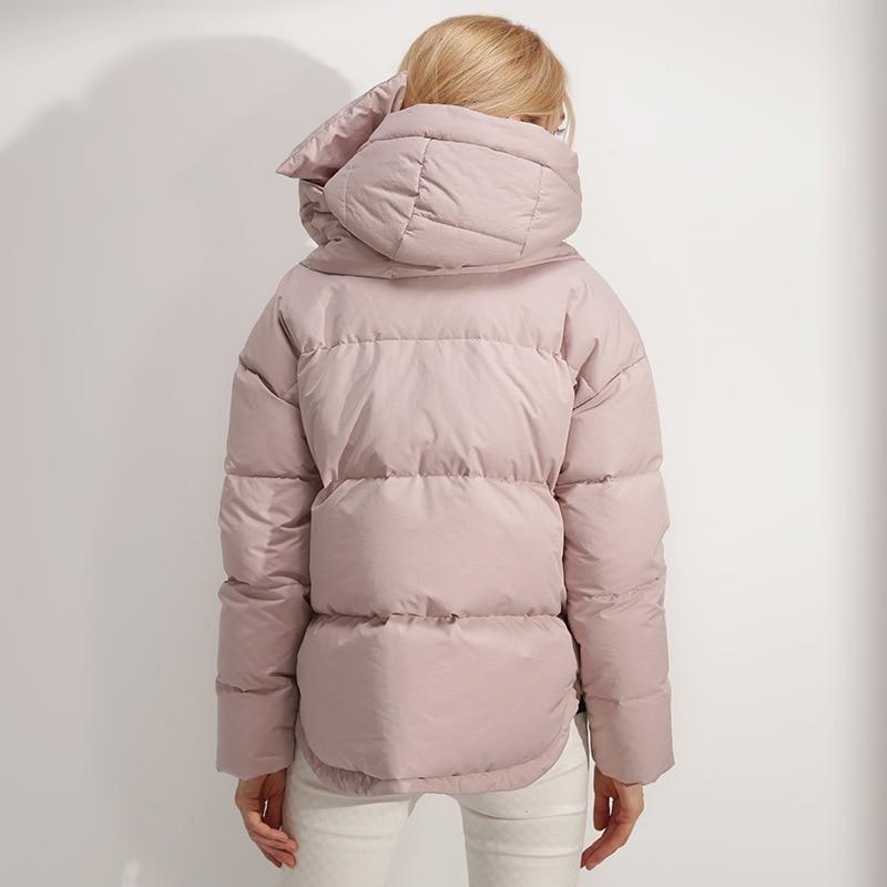 Kz308 Casual Parka black De Chaud Hiver Capuchon pink Neige Veste Manteau White Femmes À 2018 Vestes AqX67q