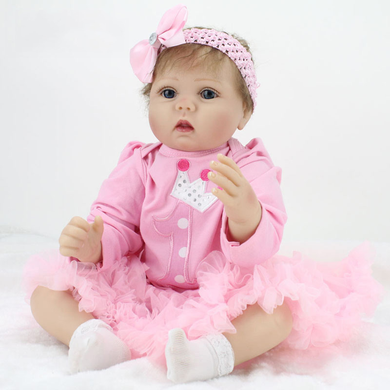 55cm lovely Baby Reborn Doll 22 Inch Lifelike Soft Silicone Reborn Toys Fashion Gift For Girls Newborn Babies Toys boneca 22 inch 55cm lifelike soft silicone reborn baby dolls for girls children fashion princess doll toy good gift newborn babies toys