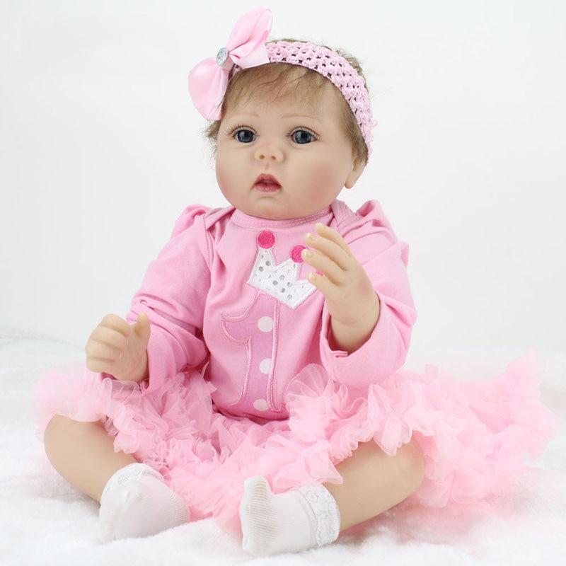 【ᗑ】55cm Lovely Baby Reborn 【ᗑ】 Doll Doll 22 Inch Lifelike