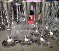 64cm Tall Silver Metal Wedding Flower Vase Table Decoration