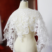 2016 High Quality Embroidered Fabric Sequin Embroidery Lace Applique Bridal Trim For Women Dress YYN589