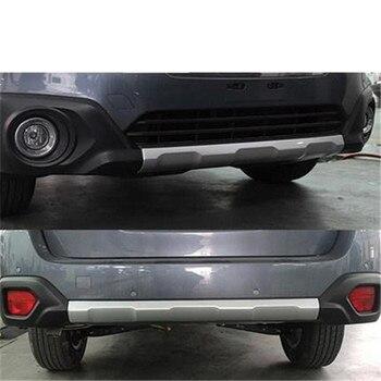 ABS כרום קדמי + אחורי פגוש כיסוי trim פלסטיק פגוש ברים קדמי ואחורי פגוש לסובארו אאוטבק 2015- 2018 רכב סטיילינג