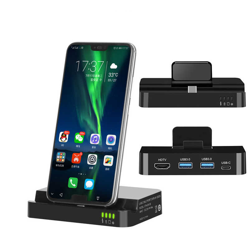 USB Type C HUB Docking Station For Samsung S10 S9 Dex Pad Station USB-C to HDMI Dock Power Adapter For Phone Huawei P30 P20 Pro