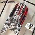 Новый Стиль 2017 Desigual шарф люксовый бренд Шелковый Платок 180x90 Шарф Женщины шарфы новый шарф для женщин печатных Палантин
