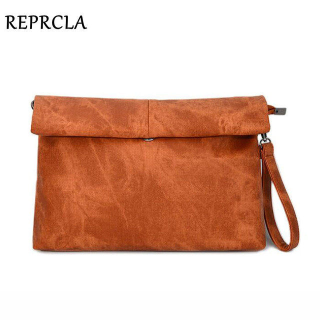 c38380e4b REPRCLA Newest Women Handbags Canvas Day Clutches Fold Over Envelope Bags  Fashion Shoulder Bag For Lady L019