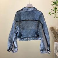 New 2019 fashion product han edition joker heavy small chain tassel brief paragraph jacket female cowboy coat wash water