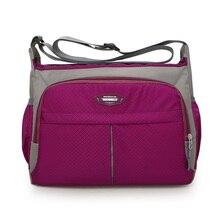 Preppy style waterproof nylon shoulder bag Candy color messenger Men and women crossbody joker contracted travel