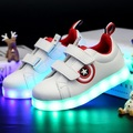 Size 25-37 USB Charging Tenis Led Feminino Basket Led Light Up Trainers Kids Boy Girl Luminous Led Sneakers Child Glowing Shoes