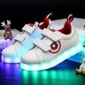 Tamanho 25-37 Tenis Levou Feminino Cesta de Carregamento USB Led Light Up Led Luminoso Sapatilhas Formadores Crianças Menino Menina Criança Brilhante shoes
