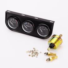 52 мм Тройной комплект Температура Масла Датчик Температуры Воды Датчик Температуры Масла Датчик давления Датчик 12 В 3 в 1 Автомобиль Метр Автоматический Измерительный Прибор тахометр
