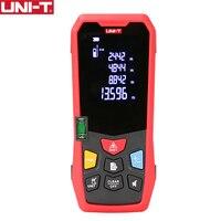 Uni-t лазерный дальномер Расстояние метр 40 м 50 м 150 м ручной медиторный лазер лента для сборки измерительное устройство электронная линейка ...